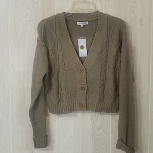 Hooked Up cardigan sweater XS new with tags